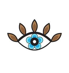 Original Stylized Eye With Flower In The Middle vector