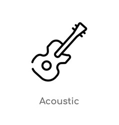 Outline acoustic icon isolated black simple line vector