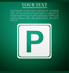parking sign icon street road sign vector image