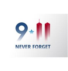patriot day september 11 poster 911 lettering vector image