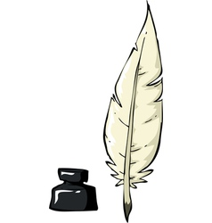 Pen with ink vector