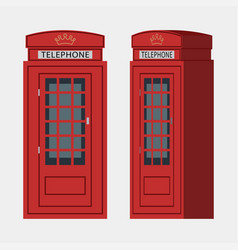 phone booth london vector image