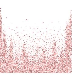 Pink gold glitter luxury sparkling confetti scatt vector