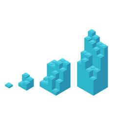 Plastic bricks size construction process stages vector