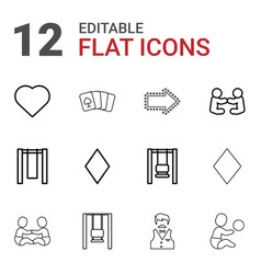 Playing icons vector