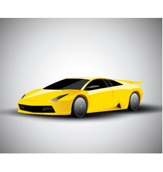 Realistic sport car vector