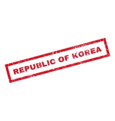 Republic Of Korea Rubber Stamp vector