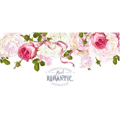 Romantic garden border vector
