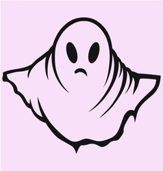 Scary ghost halloween vector