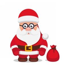 Set christmas flat santa claus vector