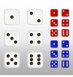 Set of dices vector image