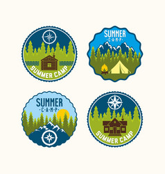 set of logos of camps vector image