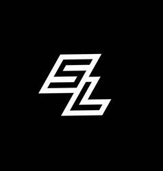 Sl logo monogram with up to down style negative vector