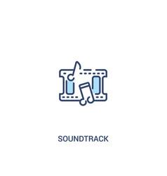 Soundtrack concept 2 colored icon simple line vector