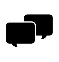 Speech bubbles isolated icon vector