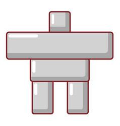 Stone sculpture canada icon cartoon style vector