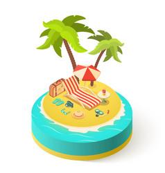 Summer vacation island vector