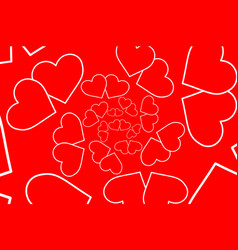 two hearts red and white vector image