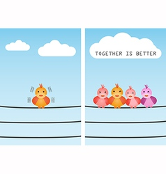 unite together is better vector image