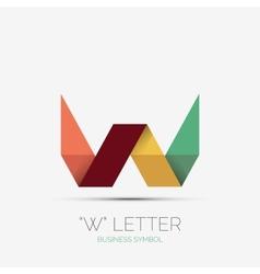 W letter company logo minimal design vector