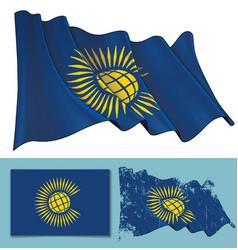 waving flag of british commonwealth vector image