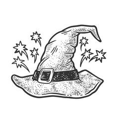 Wizard hat sketch vector
