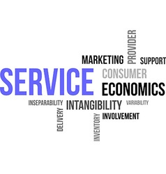 Word cloud service vector