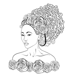 Hand-drawn of a asian vector image