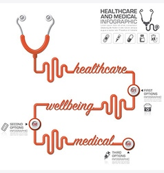 Healthcare And Medical Infographic With vector image vector image