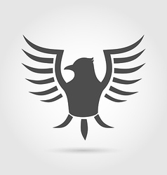 Heraldic eagle symbol isolated on white background vector image vector image