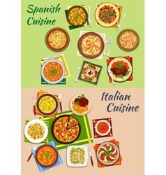 Italian and spanish cuisine fresh dinner icon vector image vector image
