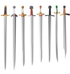 Set of swords vector