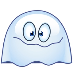 ghost emoticon vector image