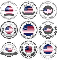 Made in USA seals badges vector image