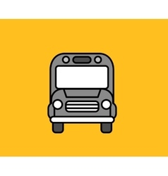 Bus front icon design flat isolated vector