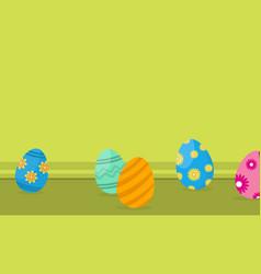 easter egg on landscape backgrounds vector image