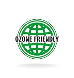 Ozone friendly sign Globe green symbol vector image