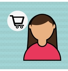people shopping design vector image