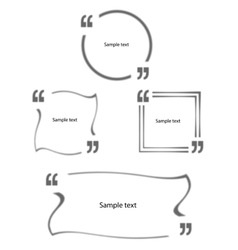 Quotes in quotation marks Set vector image