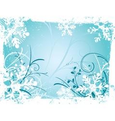 winter grunge vector image vector image