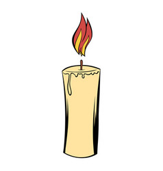 candle icon cartoon vector image vector image