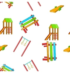 Children rides pattern cartoon style vector image
