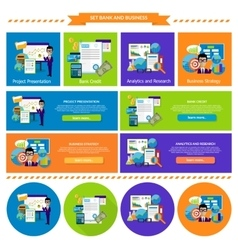 Concept Business Strategy Analytics and Research vector image vector image