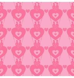 Lovers in a balloon seamless pattern Valentine s vector image vector image