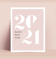 2021 new year minimalistic typographic poster or vector image