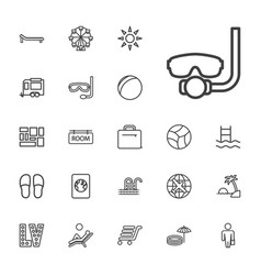 22 vacation icons vector