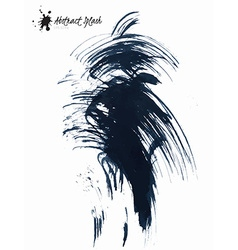 Abstract black splashes vector image