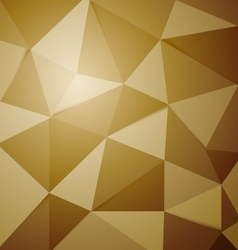Abstract golden polygon triangle background vector