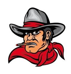 American cowboy man vector