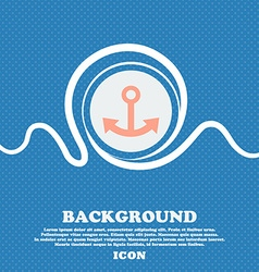 Anchor sign Blue and white abstract background vector image